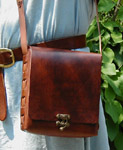 Box Purse Shoulder Bag front view.