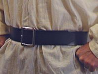 2 inch wide Pirate Belt Close-up. Heavy, nickel-plated solid brass buckle.