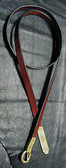 Medieval and Viking Age Belt shown in Chestnut bridle leather.