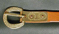 Dublin Viking Medieval & Viking Age Belt ~ Hand-worked Buckle Plate is inspired by a copper Viking belt tip unearthed at Dublin.